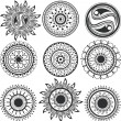 Set of mandala - Stock Vector