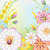 Flowers on to the meadow — Stock Vector