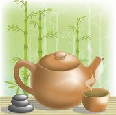 зеленый чай — Cтоковый вектор