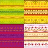 Set of ethnic pattern texture — Stock Vector