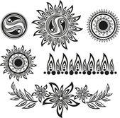 Uppsättning av tatuering — Stockvektor
