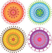 Set of colorful mandalas — Stock Vector