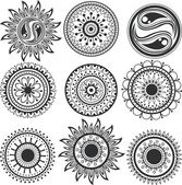 Set of mandala — Stock Vector