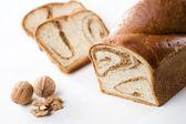 Cake with Nut — Stock Photo