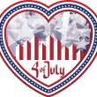 Heart shaped background Fourth of July in heart. No fonts were u — Stock Vector #10353570