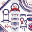 USA colors design decoration set. No fonts were used. — Stockvector  #10353573