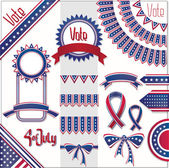 USA colors design decoration set. No fonts were used. — Stock Vector