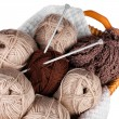 Royalty-Free Stock Photo: Balls of wool and knitting