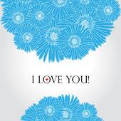 Karta kwiat miłość — Wektor stockowy