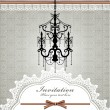 Royalty-Free Stock Vector Image: Luxury chandelier background with lace