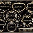 Royalty-Free Stock Vector Image: Vintage Gold frame set