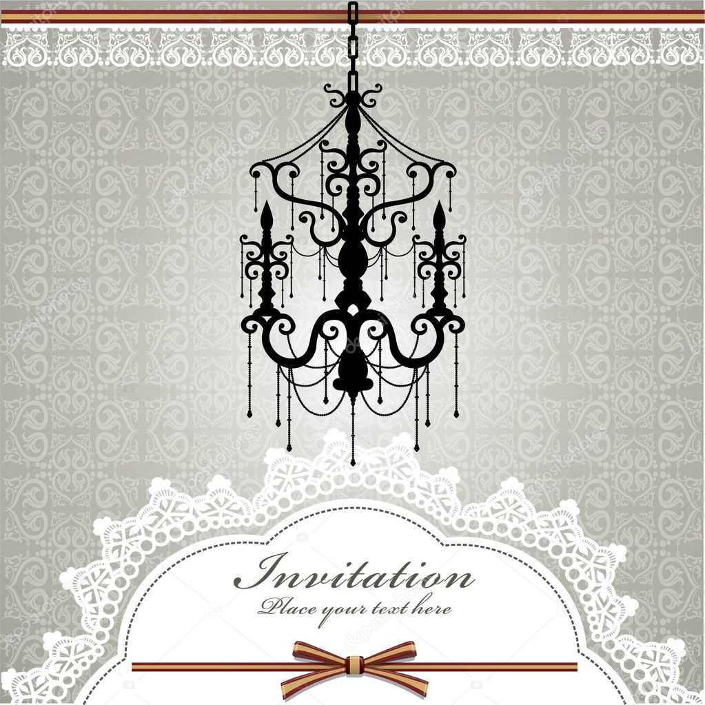 Luxury chandelier background with lace  Stock Vector #10006375