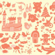 Royalty-Free Stock Vector Image: Vintage Cute design element set
