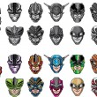 Royalty-Free Stock Vector Image: Super hero heads set 2