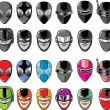 Stock vektor: Super hero heads