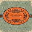 Vintage frame template — Stockvectorbeeld