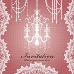 Luxury chandelier background design — Stock Vector
