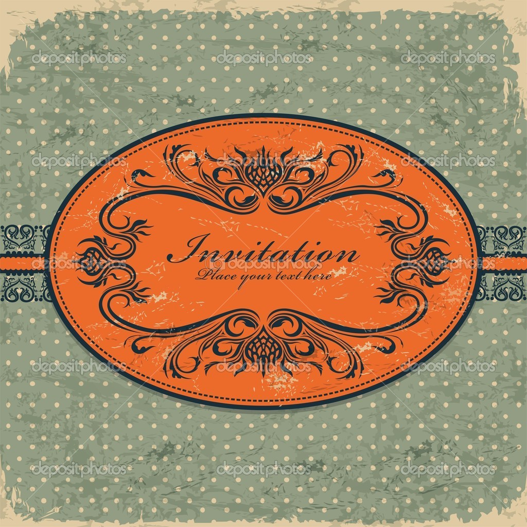 Vintage frame template  Stock Vector #10478845