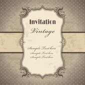 Vintage frame template (3) — Vector de stock