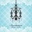 Luxury chandelier background design — Stockvector #10525402