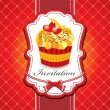 Vintage cute cupcake design — Stock Vector #10534250