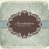 Vintage old frame template — Stock Vector
