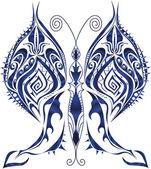 Dark blue butterfly — Stock Vector