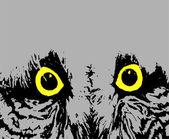 Grungy owl — Stock Vector