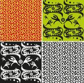 African ornametal texture — Stock Vector