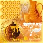 Milk and honey — Stock Vector #10625863