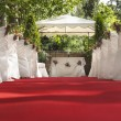 Wedding red carpet to Altar - Stock Photo