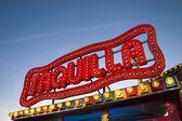 Carnival biljetter tecken med ljus — Stockfoto