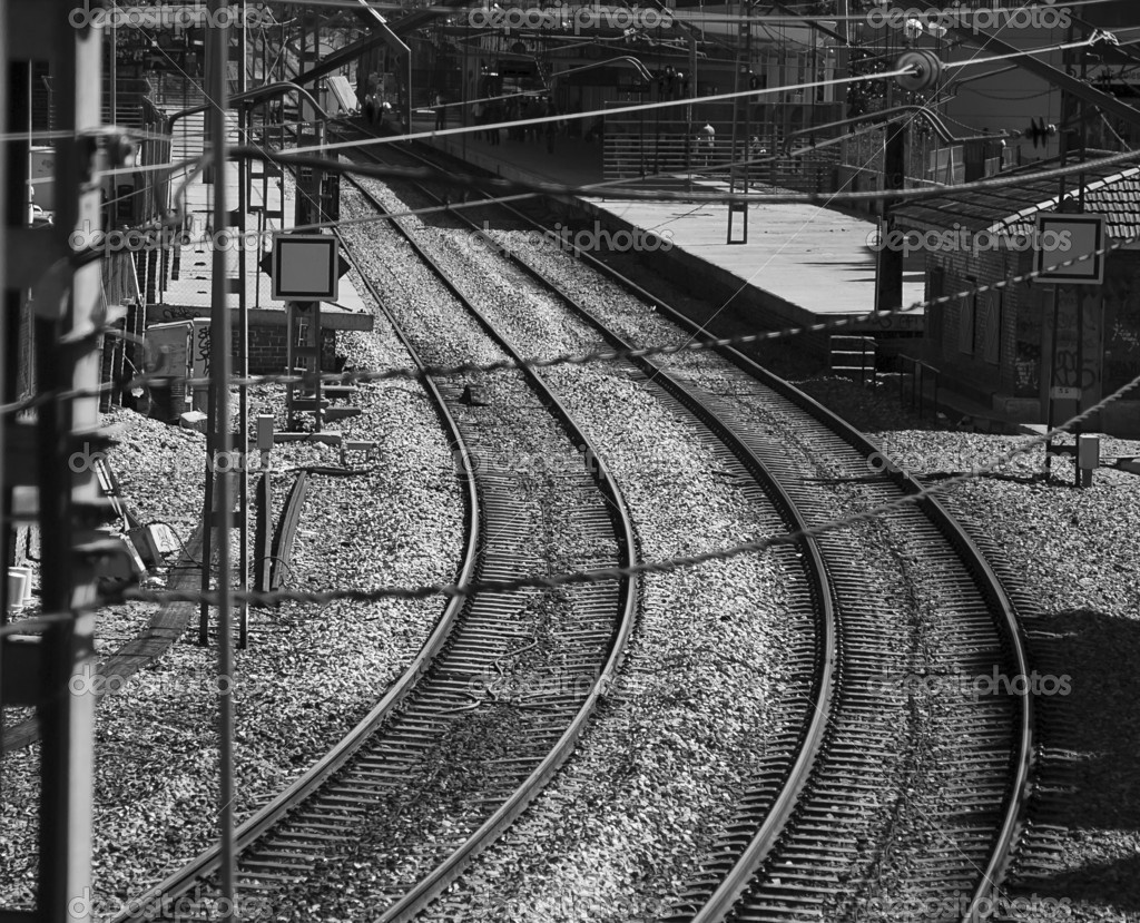 Rail Yard near to Train Station at Madrid — Stock Photo #10354689
