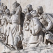 Close Up Monument to the Discoveries at Lisbon, Portugal - Stock Photo