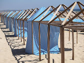 Changing Beach Cloth House — Стоковое фото