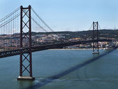 Ponte 25 de Abril - Bridge 25 April at Lisbon — Stock Photo