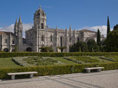 View of Jeronimos Monastery at Lisbon, Portugal — Stock Photo