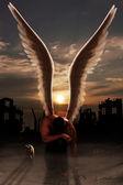 устал ангел — Стоковое фото