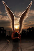 Tired angel — Stockfoto