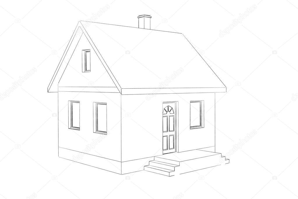 Dessin de maison photographie toncsi47 10594747 - Dessin de maison en perspective ...