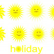 Stock Vector: Sun-holidays