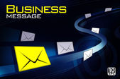 Business message letter — 图库矢量图片