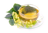 Tea from lime blossom 01 — Stock Photo