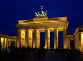 Berlin Brandenburg Gate night 03 — Stock Photo
