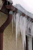 Icicle on house 02 — Stock Photo