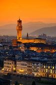 Florence Palazzo Vecchio evening 03 — Stock Photo