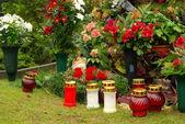 Cmentarz kwiatów układ 11 — Zdjęcie stockowe