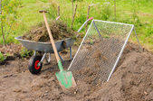 Compost pile sieve 01 — Stock Photo