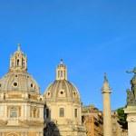 Rome churches and Trajans Column 01 — Stock Photo