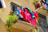 Laundry balcony 01 — Stock Photo